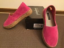 Primadonna Collection Fuxia  Suede Flat Shoes ~ Size 36 (6)  ~ NEW !!!