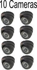 10 X 2MP TVI CCTV IP66 Grey Dome Eyeball Security Camera 1080p 20m Nightvision