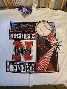 NCAA Vintage 1999 College World Series T Shirt XL Nebraska Huskers