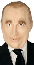 Mens Smiley Putin World Leader Stag Fun Fancy Dress Costume Accessory Mask