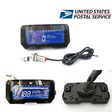 Motorcycle Digital Speedometer Odometer Gauge Fuel Level LED Display with Sensor
