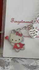 "Handmade red KITTY keyring/bag charm with ""HANDMADE WITH LOVE"" HEART New"