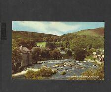J Salmon Vintage Colour Postcard River Dee From the Bridge Llangollen unposted