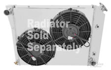 "Chevy Nova Small Block Custom Aluminum Fan Shroud & 2-10"" Fans-17""H x 20 3/4""W"