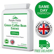 Green Coffee Bean Extract 5000mg 90 Vegan Capsules 50% Chlorogenic Acid