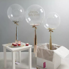 Round Clear balloons Transparent 24 inch Big Giant birthday Ballons Any Occasion