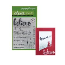 Christmas Stamps Do You Believe Poppystamps Stamp Set Words Phrases Verses CL456