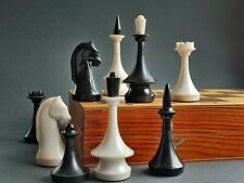 Chess Set 1980 USSR tournament Vintage plastic Folding wooden Board 40x40 For