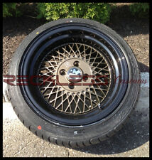 "15"" KLUTCH SL1 BRONZE BLACK WHEELS and TIRES MESH RIMS JDM FITS ACURA INTEGRA"
