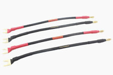 Youkamoo HiFi Silver-Plated Speaker Jumper Cable Terminal Cable Spade to Banana