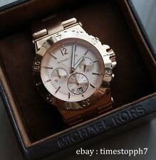 Michael Kors Bel Air Dylan Stainless Steel Rosegold Chronograph Watch Mk5314