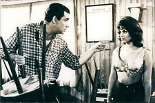 """Acteurs Catherine Rouvel et Robert Hossein dans """"Chair de poule """",1963, Vintage"""
