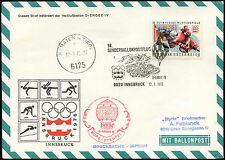Olympics Cover Austrian Stamps