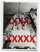 PANZERSCHIFF ADMIRAL GRAF SPEE - orig. Foto - Mittagspause auf Deck, 1936