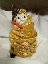 VINTAGE PETER PETER PUMPKIN EATER & WIFE  COOKIE JAR~GOLD, JAPAN CJ25
