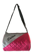 Girl's Quilted Nylon Pink Dance Duffle Bag NWT