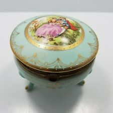 Antique Royal Vienna Footed Porcelain Trinket Box
