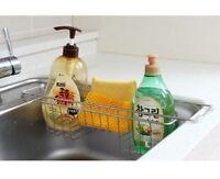 Olio Kitchen Sink Storage Stainless Steel Rack Holder Organizer Easy Install V_e