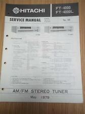 Hitachi Service Manual~FT-4000 FT-4000L Tuner~Original Manual