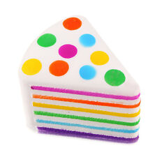 Squeeze Rainbow Cake Squishy Slow Rising Scented Fun Toys Gift Stress Reliever