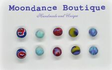 "Handmade Unique 1/4"" Fimo Polymer Ball Bead Pierced Post Earrings Set #4"