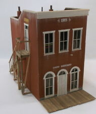 """O On3 On30 CRAFTSMAN CUSTOM BUILT"""" TWO STORY BANK & OFFICE BRICK STORE """""""