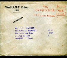 """LILLE-MOULINS (59) USINE de DRAPS / FIL & COTON """"WALLAERT Freres"""" Voyagée 1961"""