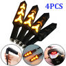 4X Motorcycle LED Turn Signal Indicators Flowing Water Light Amber Blinker Lamp