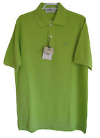 New Vintage THOMAS BURBERRY Slim Fit Polo Shirt Pique Cotton Green M