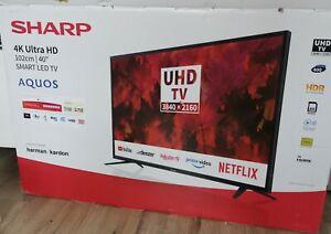 """Sharp 40"""" 4K Ultra HD 102cm 2160p LED Smart TV Harman / kardon"""