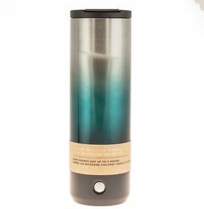 Starbucks 2018 Vacuum Insulated Tumbler 16 Oz. Steel Green Limited Edition Hot