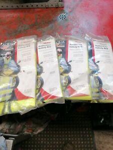 Motorcycle building site hi vis viz vests visibility safety waistcoat jacket top