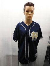 Notre Dame Fighting Irish Majestic Baseball Jersey Blue L NCAA