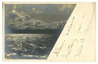 RPPC Sunset at SILVER LAKE NY Vintage New York Real Photo Postcard