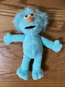 "Rare 6.5"" Rosita Girl Plush Stuffed beanbag Toy Beanie Sesame Street 2014 Gund"