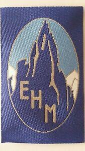Ecusson tissé de l'EHM école de haute montagne Chamonix crée en 1932