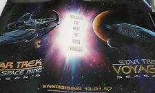 More details for voyager deep space nine 9 star trek poster advertising season 3 and 5 1997