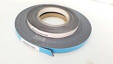 MAGNETIC + RECEPTIVE Tapes Self Adhesive White face strip 12.5mm wide 10m LONG