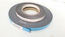 Las cintas magnéticas + receptivo Auto-Adhesivo Blanco Cara Tira de 12.5mm de ancho 10m de largo