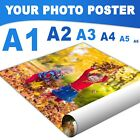 """Your Photo Poster Printing Personalised Picture Custom A1 A2 A3 A4 A5 A6 24x36"""" <br/> ✔️ Premium Quality Satin Finish ✔️ FAST +Free Despatch"""