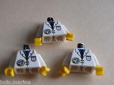 Lego 3 torses set 6452 3067 6456 6455 /3 white torso from minifig
