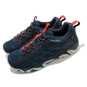Merrell Moab FST 2 GTX Gore-Tex Blue Navy Red Men Outdoors Hiking Trail J500117