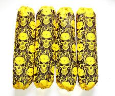 Shock Covers Kawasaki Brute Force 650 750 Yellow Skulls ATV Set of 4