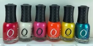 6 Orly Miniature Nail Polish White Pink Yellow Blue, Red Orange Neons Summer Fun