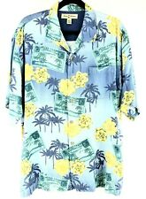 Tommy Bahama Size XL Mens Silk Hawaiian Camp Shirt Chest 48""