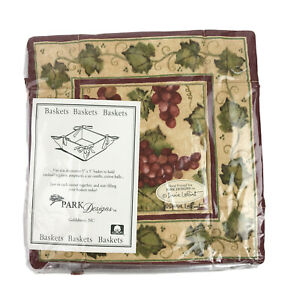 Fabric Basket 5 Inch Square Park Designs Vineyard 170-39