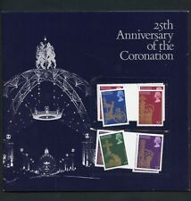 GREAT BRITAIN 25th ANNIVERSARY OF THE CORONATION OF QE II OFFICIAL FOLDER CPL
