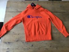 Orange Champion Hoodie Size Medium