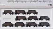 """Märklin 46030 Kohlenwagen-zug mit 10 Kurze Hochbordwagen """"50er-jahre"""" EP III"""