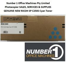 Ricoh SPC250DN / SPC250SF (407548) Genuine Cyan Toner Cartridge - 1,600 pages